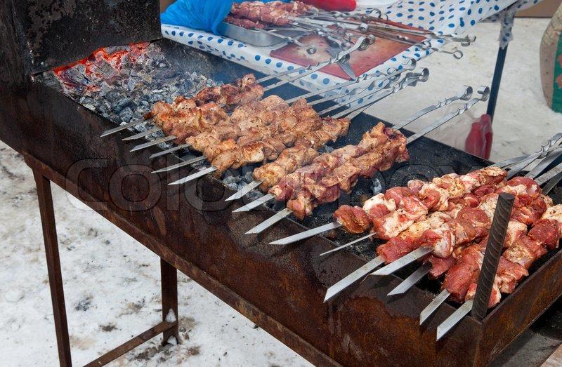 Shish Kebab in The Oven Meat Shish Kebab Shashlik