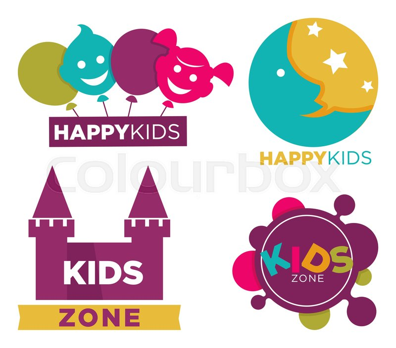 Kids Club With Entertainments Bright Stock Vector Colourbox