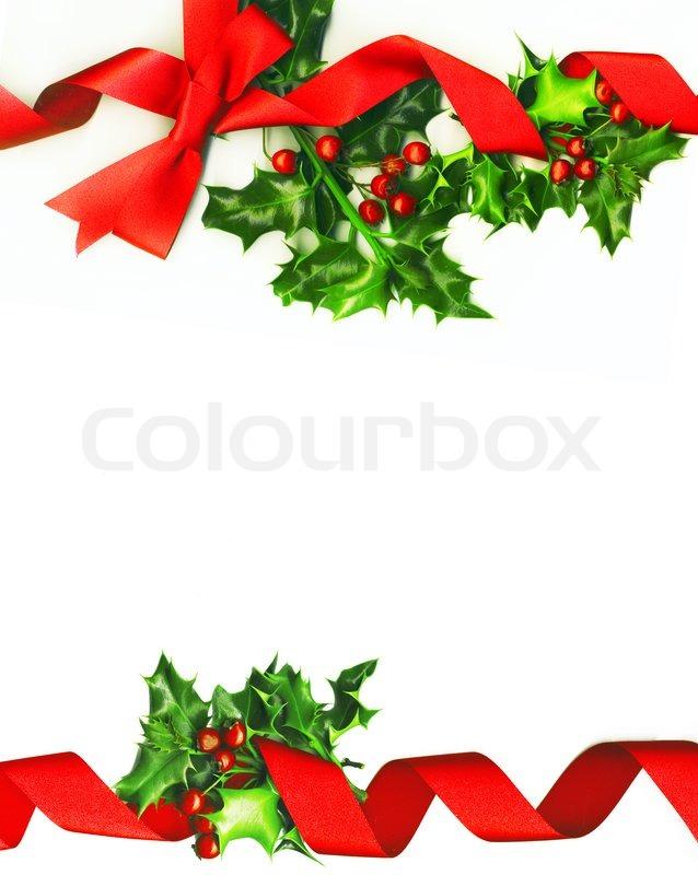 Christmas Border Isolated On White Stock Image Colourbox