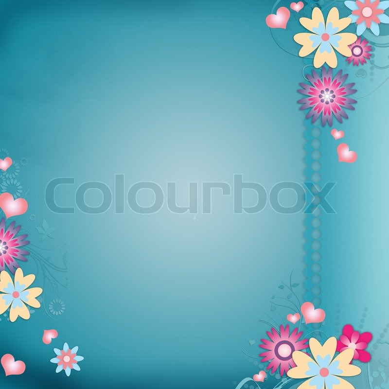 greeting card background with flowers