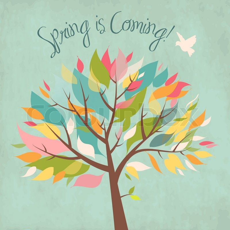 Spring Is Coming Stock Vector Colourbox