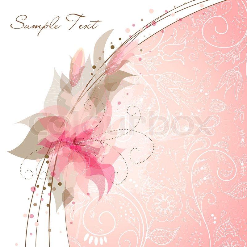 Romantic Flower Background | Stock Vector | Colourbox