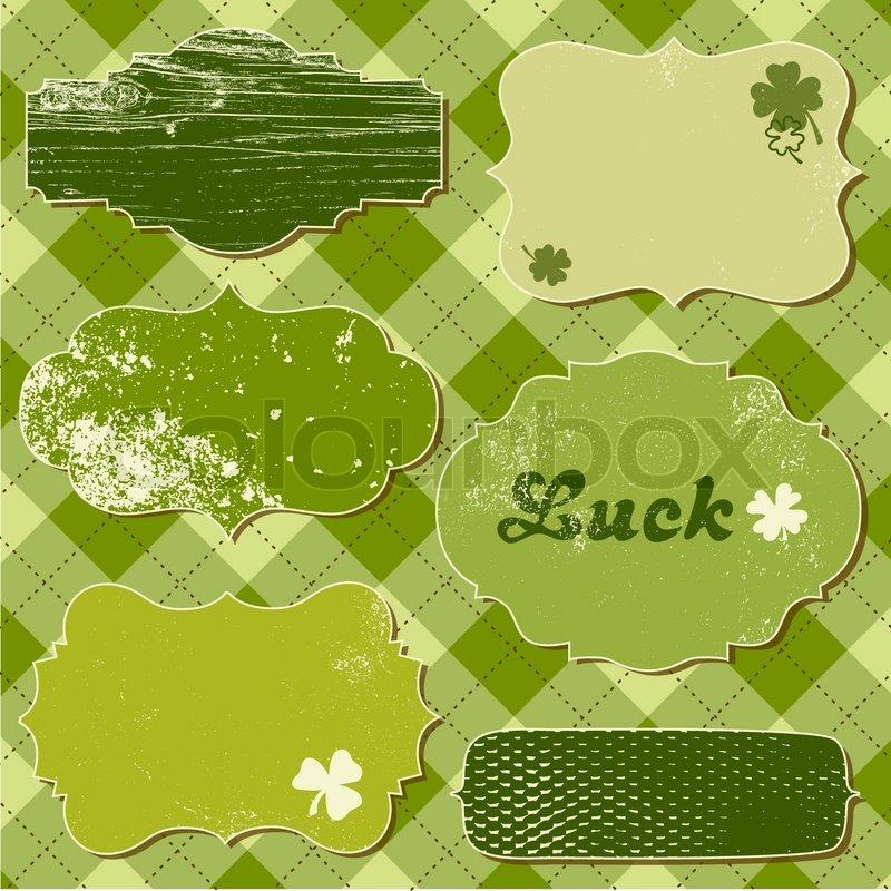 Set Of Vector Frames St Patricks Day Stock Vector Colourbox