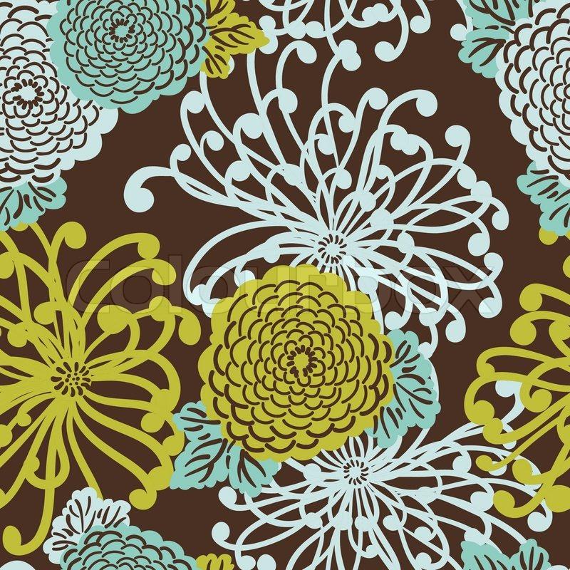 art deco flower nahtlose muster retro stil vektor illustration stock vektor. Black Bedroom Furniture Sets. Home Design Ideas