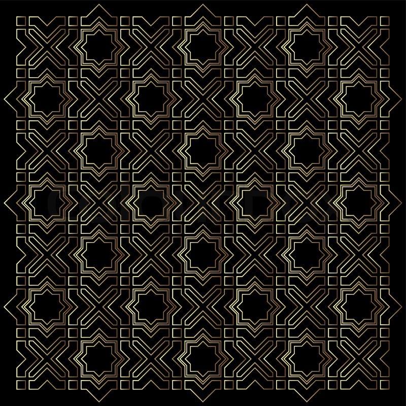 geometrische islamisches muster vektorgrafik colourbox. Black Bedroom Furniture Sets. Home Design Ideas