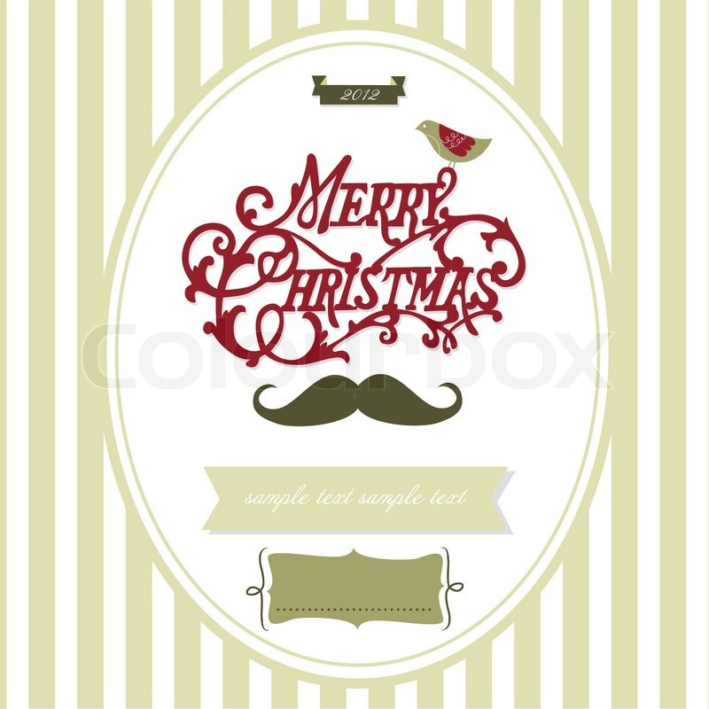 Stock vector of 'Vintage Christmas template'