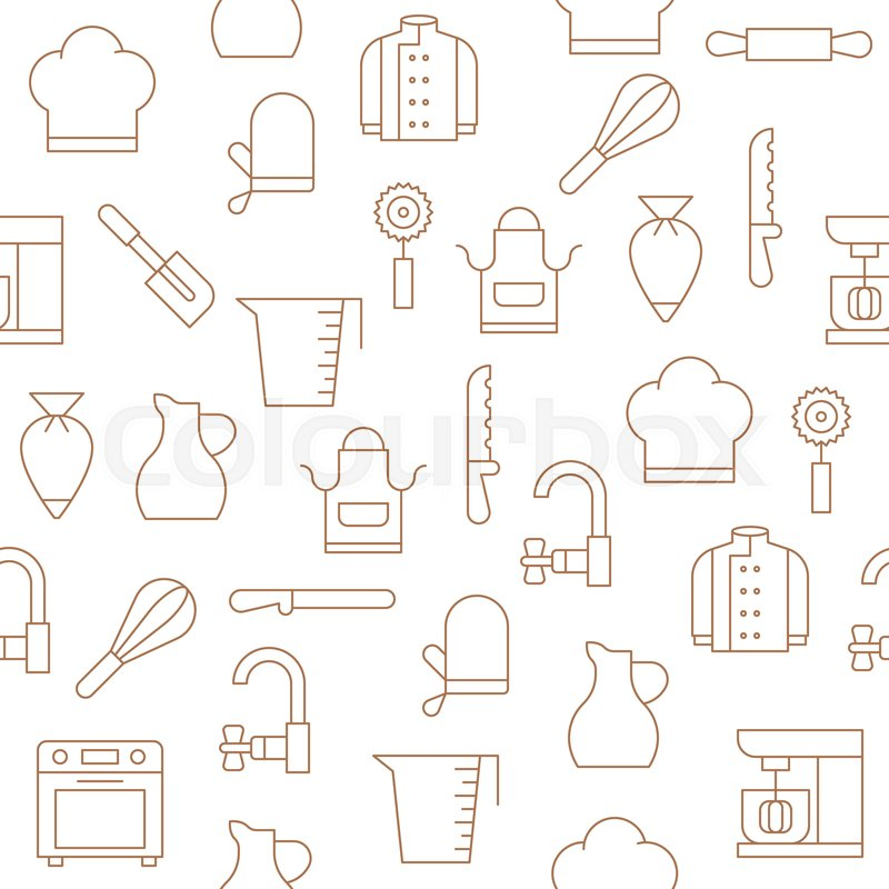 Bakery Equipment And Kitchen Utensils Stock Vector Colourbox