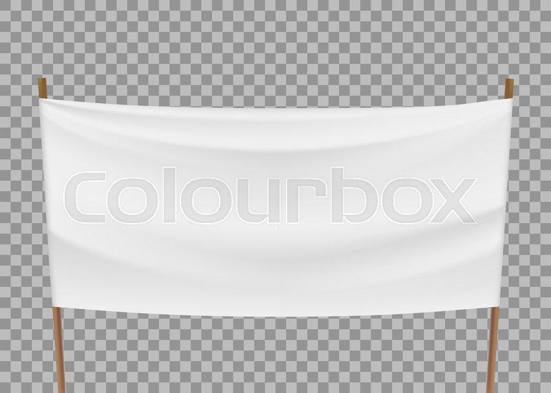 Blank Template Of White Banner Stock Vector Colourbox