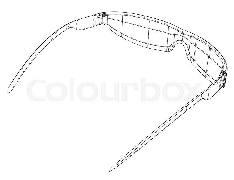 Vr Virtual Reality Glasses Concept