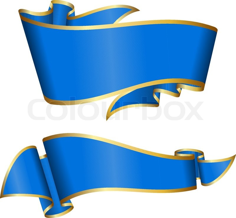 blue ribbon collection stock vector colourbox blue ribbon collection stock vector