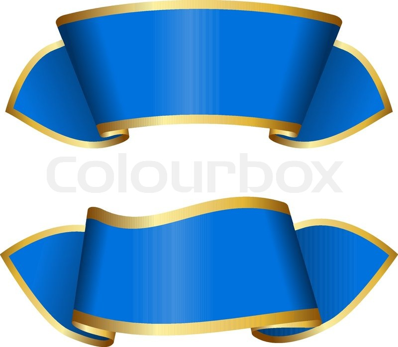 blue ribbon collection stock vector colourbox rh colourbox com blue ribbon vector png pabst blue ribbon vector logo