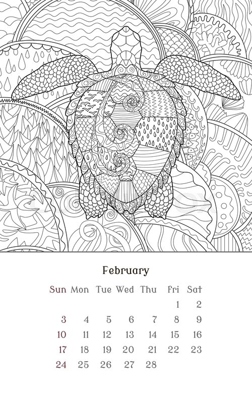 Sea turtle coloring page stock vector. Illustration of drawing ...   800x500
