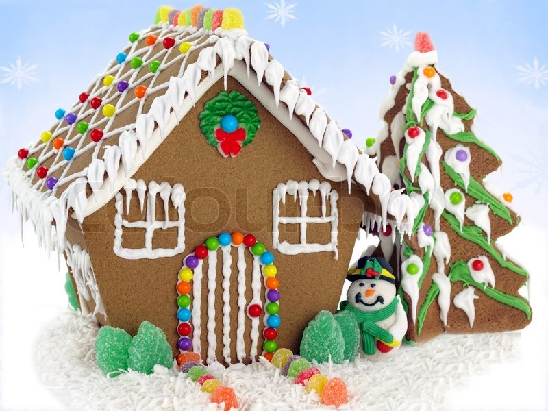 Gingerbread House Cartoon Gingerbread House And