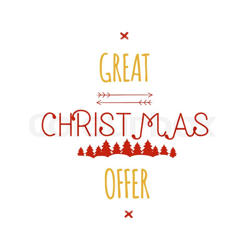 Great Christmas Offer typography ...  2153d7976