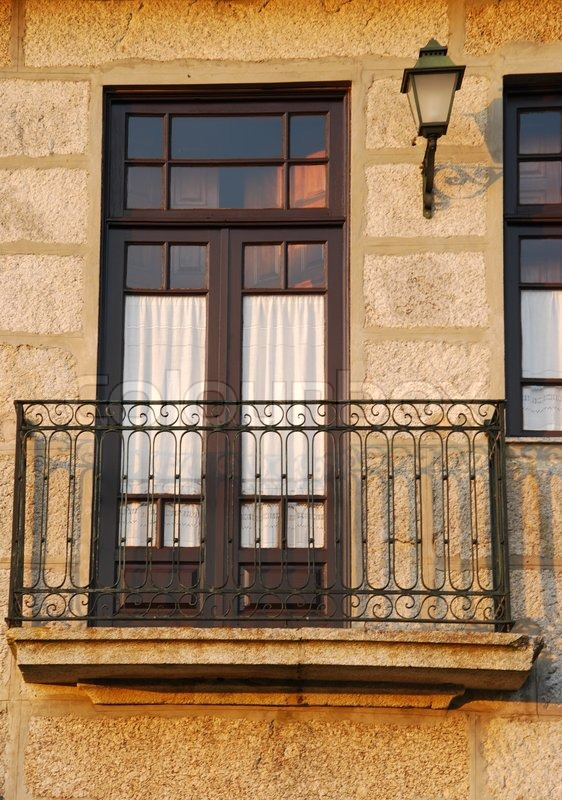 Balcony of a typical house in porto, portugal stock photo co.