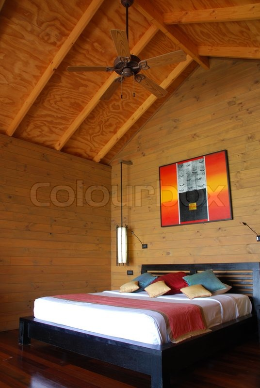 Exotic Hotel Rooms: Modern And Luxury Bungalow Hotel Room In A Tropical Island