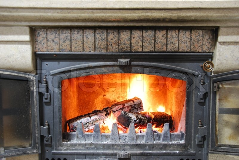 Stock image of 'Cozy home fireplace'