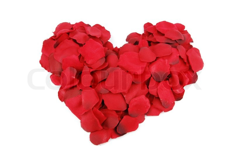 how to make a heart out of rose petals