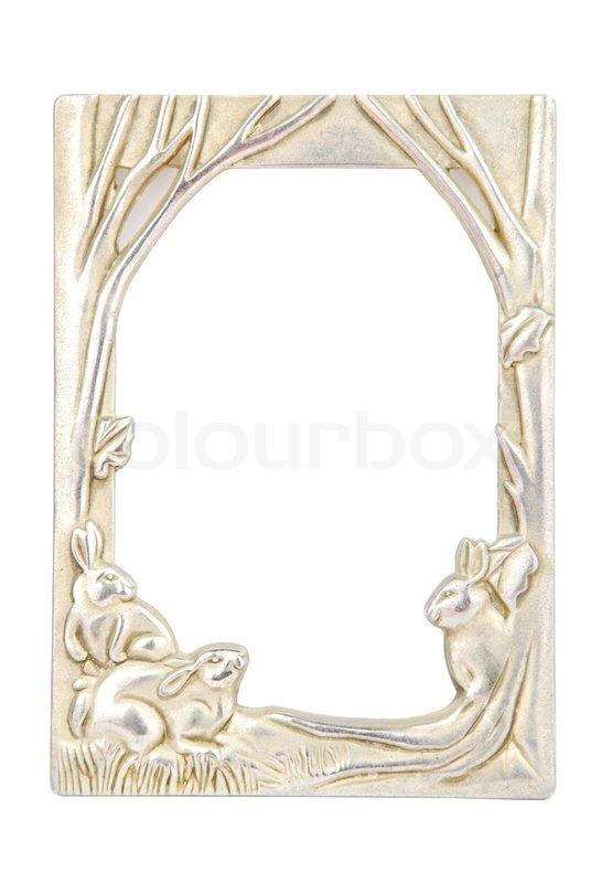 Rabbit photo-frame on white | Stock Photo | Colourbox