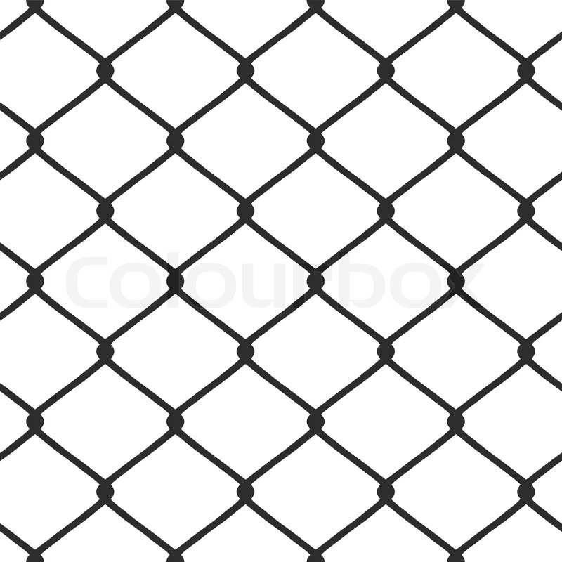 chain link fence vector | stock vector | colourbox