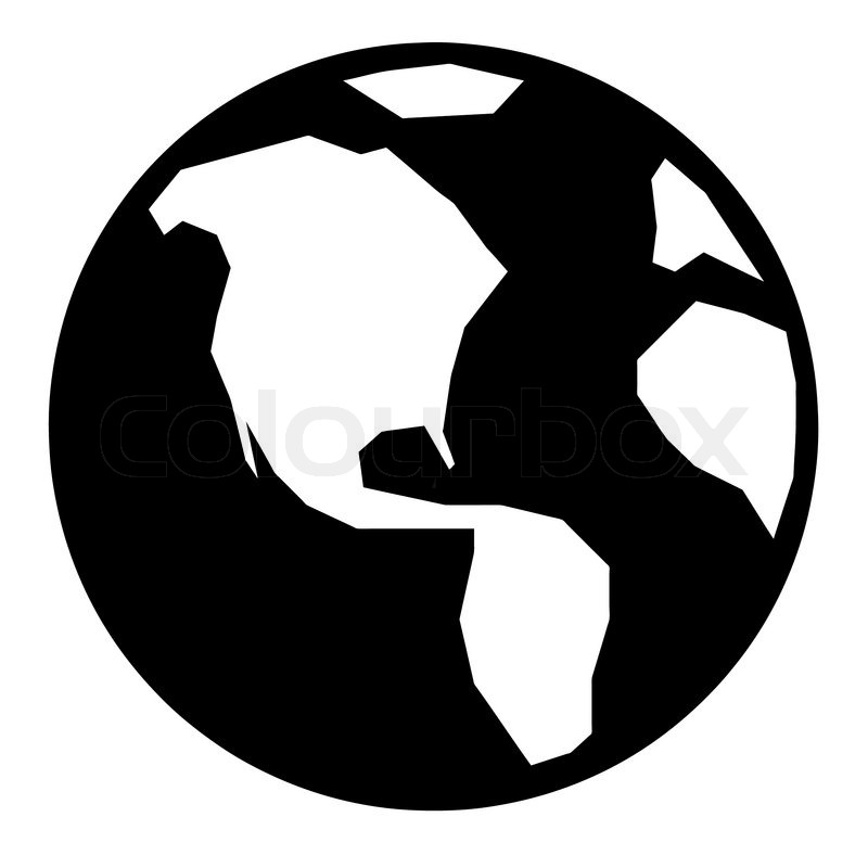 Simple globe icon stock vector colourbox simple globe icon vector publicscrutiny Choice Image