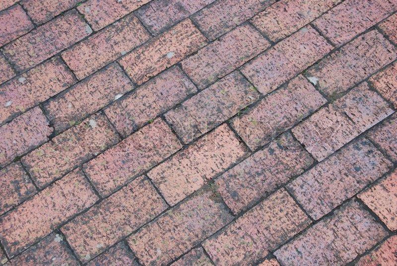 Stock image of u0026#39;Brick tile flooru0026#39;