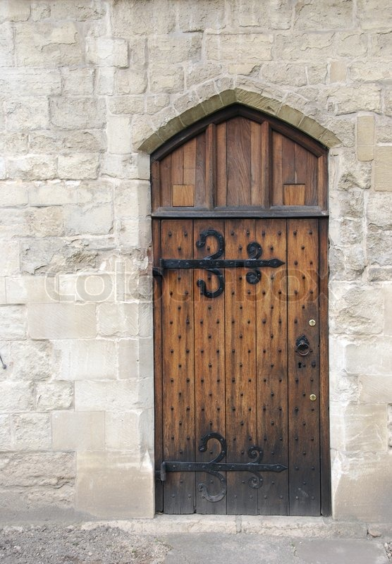 Wooden Door From Medieval Era Stock Photo Colourbox