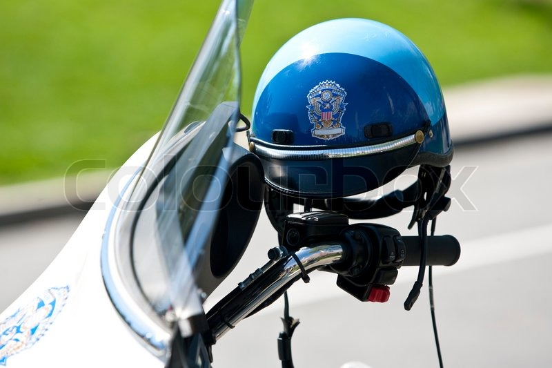 us police motorrad helm stockfoto colourbox. Black Bedroom Furniture Sets. Home Design Ideas
