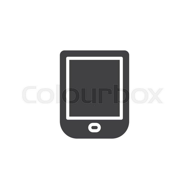 Ebook Reader Vector Icon Filled Flat Stock Vector