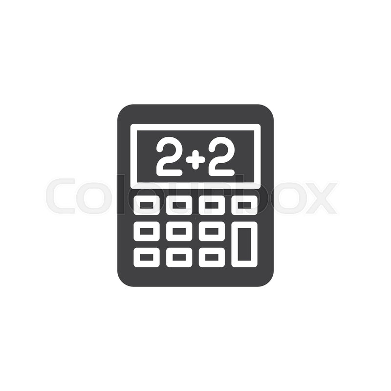 Math calculator vector icon  filled     | Stock vector