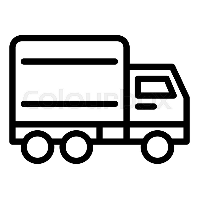 Fast delivery line icon  Truck vector     | Stock vector
