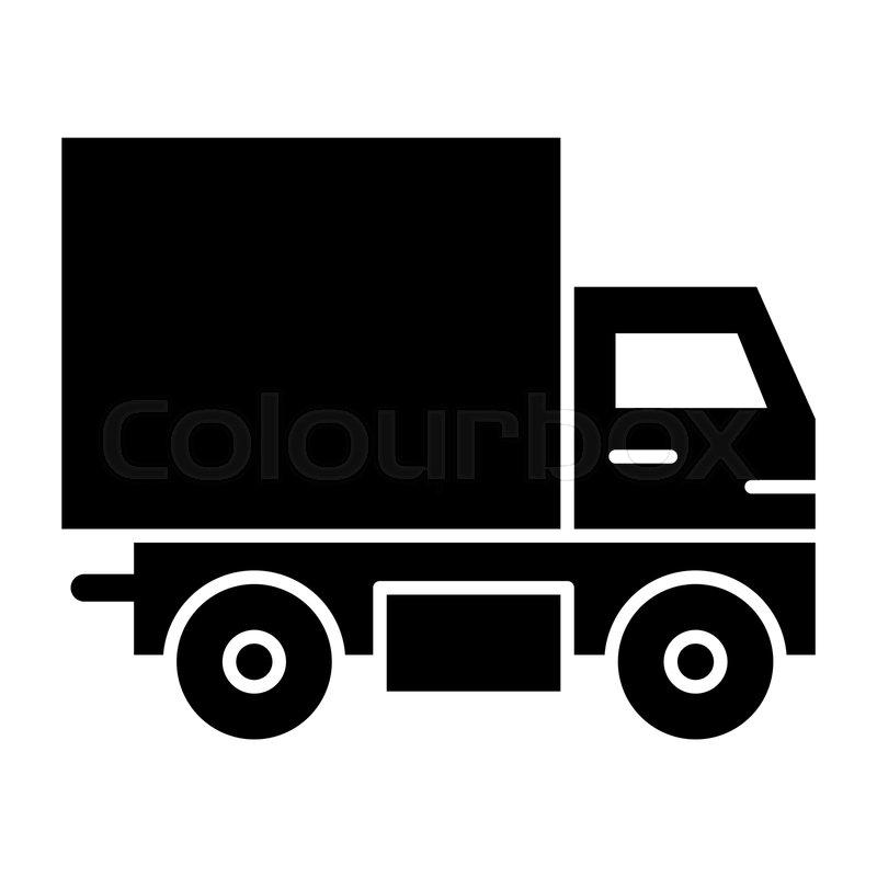 Delivery truck solid icon  Van vector     | Stock vector