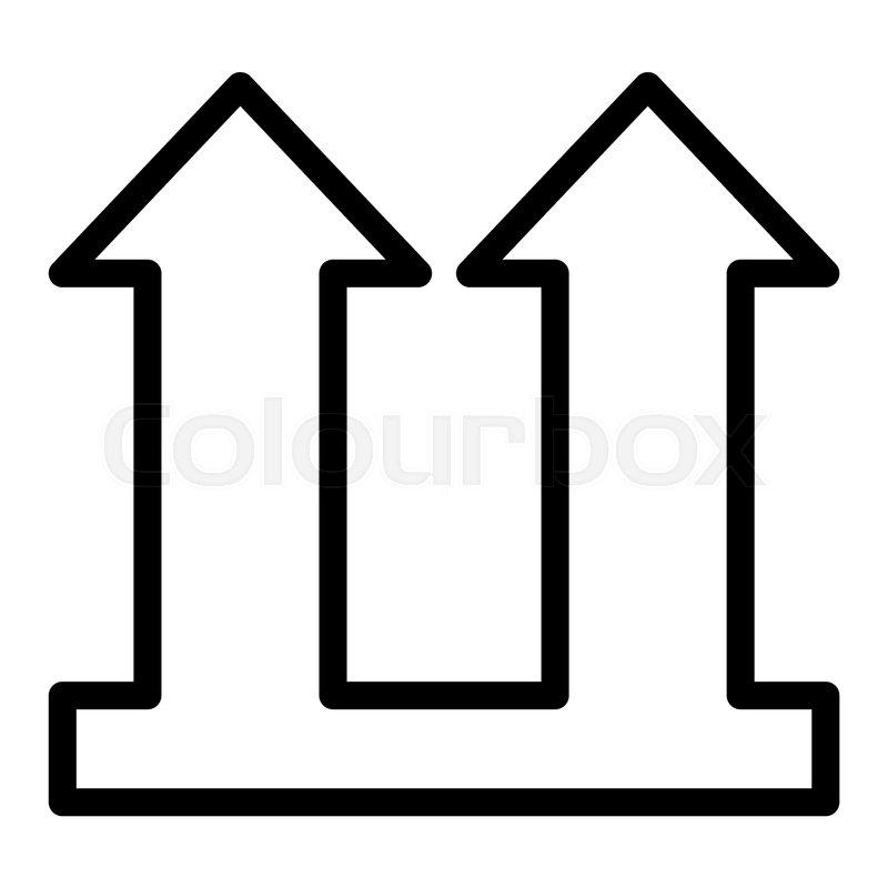 Cargo sign line icon  Cargo arrows     | Stock vector