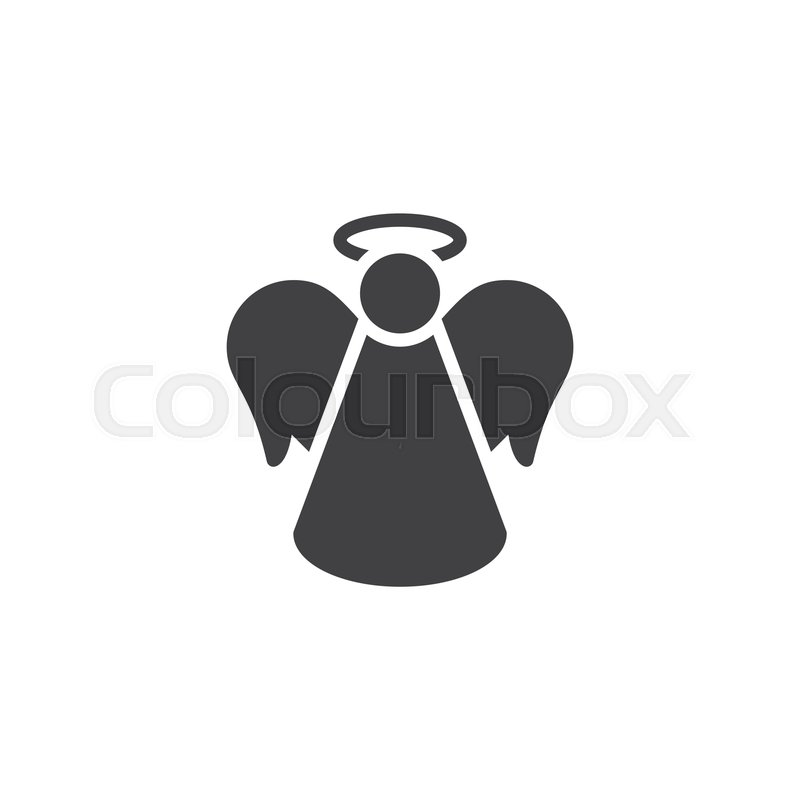 Christmas Angel Vector Icon Filled Stock Vector Colourbox