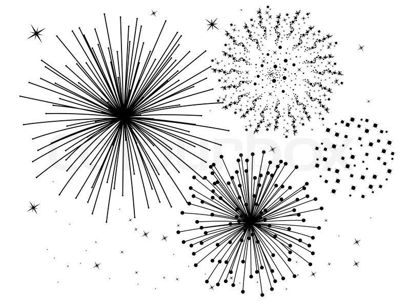 Vektor schwarz und weiß Feuerwerk Hintergrund ...