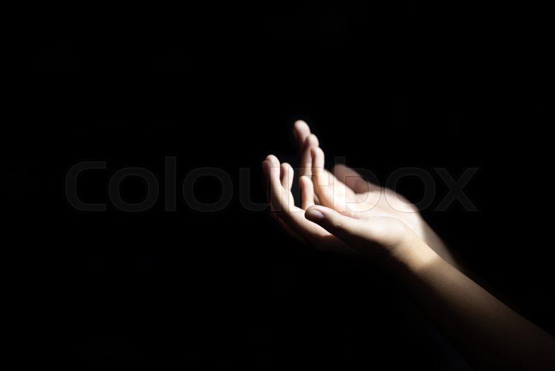 Prayer believe in god hands pray with Holy Bible by christian woman. God blessing wishing be better life. begging for forgive and believe in goodness. Christian life ..., stock photo
