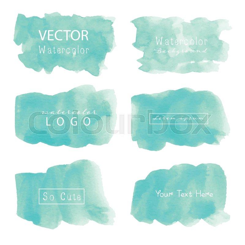 Mint Watercolor Background Pastel Stock Vector Colourbox
