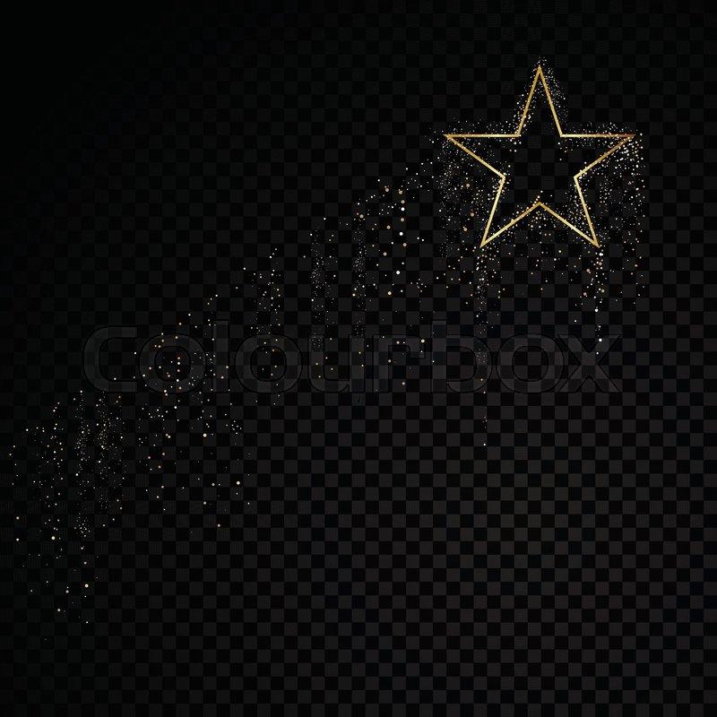 Star sparkle golden frame glitter     | Stock vector | Colourbox