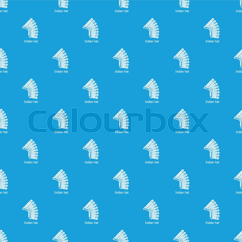 Indian Hat Pattern Vector Seamless Stock Vector Colourbox
