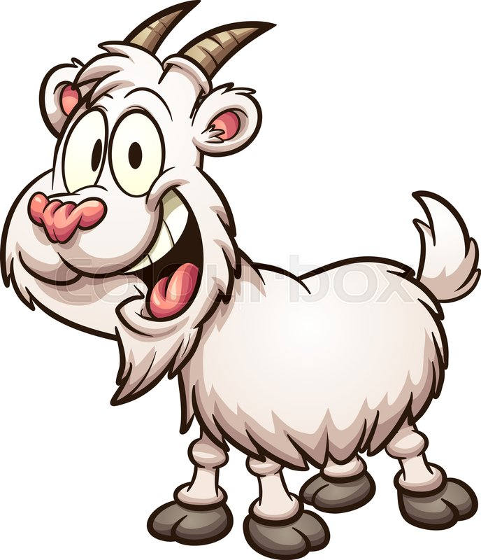 Happy cartoon goat. Vector clip art illustration with simple gradients. All  in a single layer d0102e744