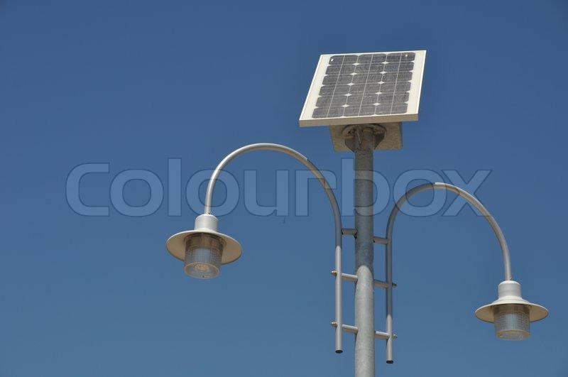 solar powered lamp post stock photo colourbox paradise - Solar Lamp Post