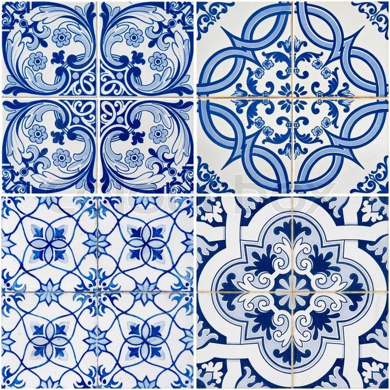 Vintage Ceramic Tiles Stock Photo Colourbox