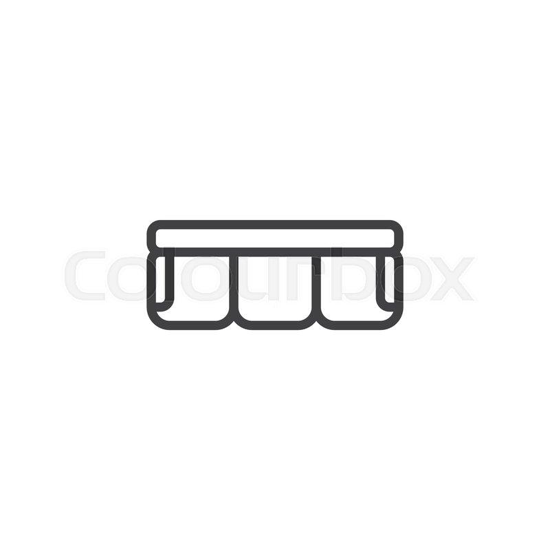 Enjoyable Sofa Top View Outline Icon Linear Stock Vector Machost Co Dining Chair Design Ideas Machostcouk