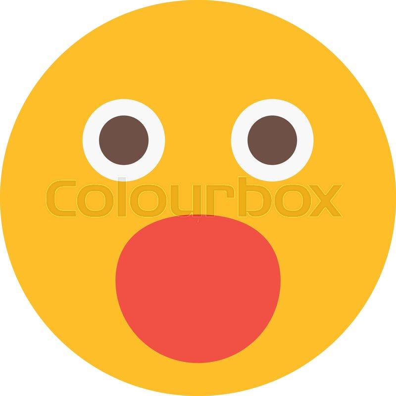 Wow or Suprise Emoji | Stock vector | Colourbox