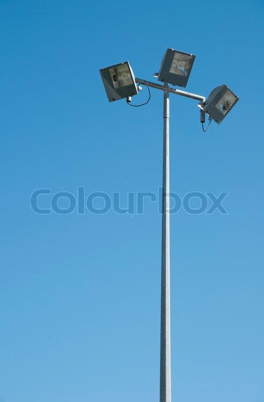 Stadium lights pole, stock photo