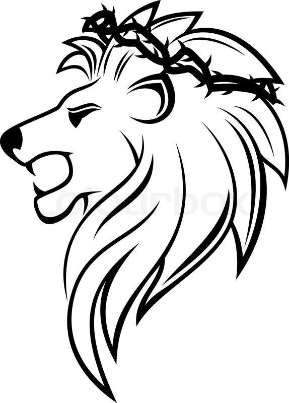 Roaring Lion Profile Tattoo Heraldic lion with tho...