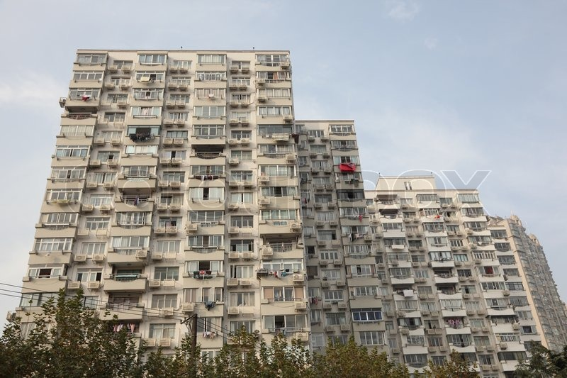 Modern apartment building in Shanghai, China | Stock Photo | Colourbox