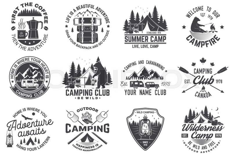 8ea6e6eea3e0 Summer camp. Vector. Concept for shirt ...