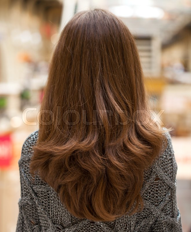 Female Long Wavy Hair Back View Stock Image Colourbox