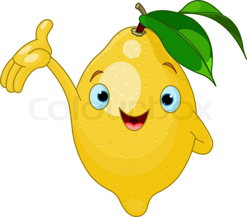 Cheerful Cartoon Lemon